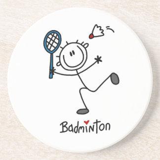 Grundlegendes männliches Strichmännchen-Badminton Untersetzer