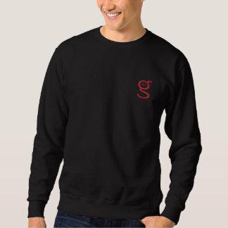 Grundlegendes schwarzes gesticktes Logo des Sweatshirt