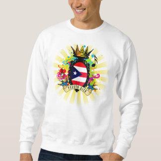 Grundlegendes Sweatshirt Puertos Rico, weiß