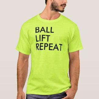 Grundlegendes T-Shirt für Mann, Gelb, Neon
