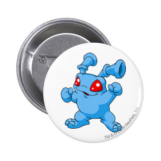 Grundo Blau Runder Button 5,1 Cm