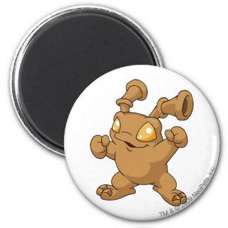 Grundo Brown Runder Magnet 5,7 Cm