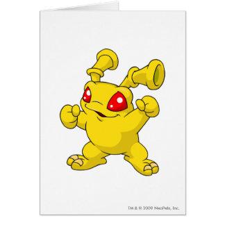 Grundo Gelb Grußkarte