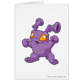 Grundo lila grußkarte