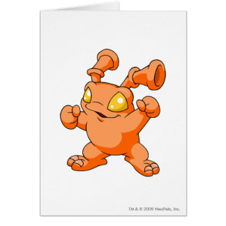Grundo Orange Grußkarte
