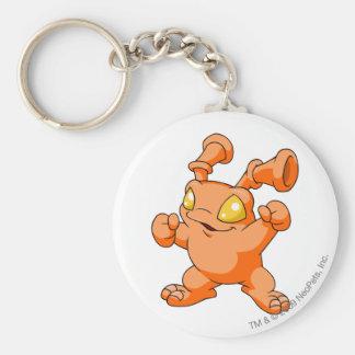 Grundo Orange Standard Runder Schlüsselanhänger