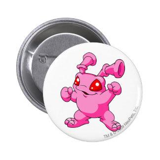 Grundo Rosa Runder Button 5,1 Cm