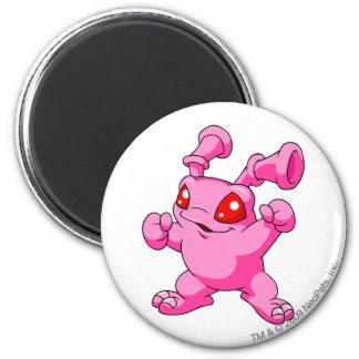 Grundo Rosa Runder Magnet 5,1 Cm