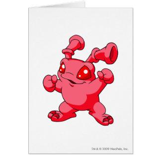 Grundo Rot Grußkarte
