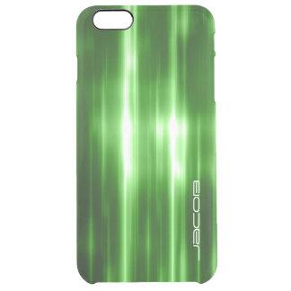 grüne abstrakte glänzende Lichter personalisiert Durchsichtige iPhone 6 Plus Hülle