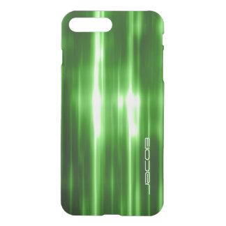 grüne abstrakte glänzende Lichter personalisiert iPhone 8 Plus/7 Plus Hülle