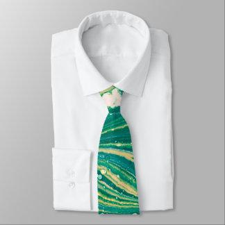 Grüne abstrakte Krawatte für Männer