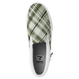 grüne Abstufungen Tartanmuster Slip-On Sneaker