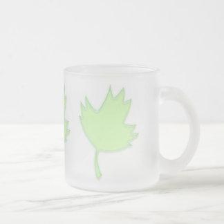 Grüne Ahorn-Blatt-Tasse Matte Glastasse