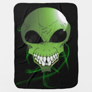 Grüne alien Baby-Decke Puckdecke