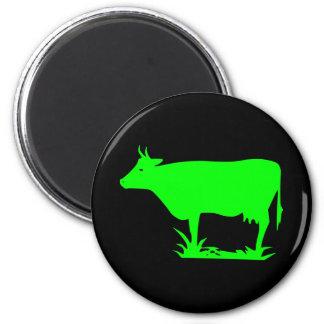 Grüne alien-Kuh Runder Magnet 5,1 Cm