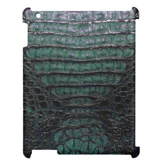 Grüne Alligatorhaut-Miniauflage #2 iPad Schale