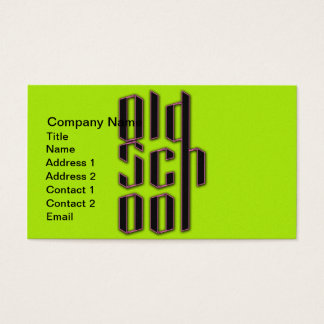 Grüne alte Neonschule Visitenkarte