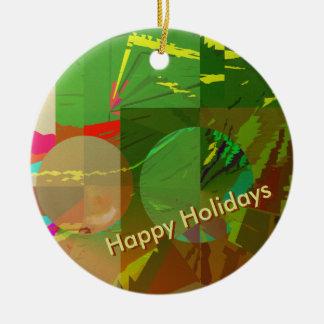 Grüne Amazonas-Feiertage mit kundengerechtem Text Keramik Ornament