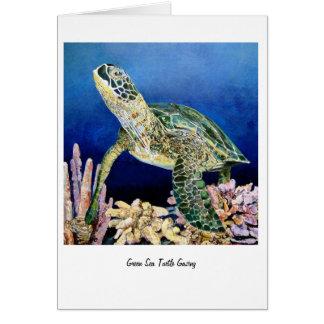 Grüne anstarrende Meeresschildkröte Karte