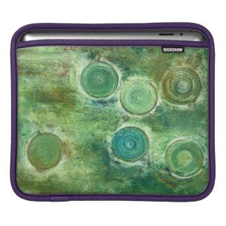 Grüne antike Kreise Sleeve Für iPads