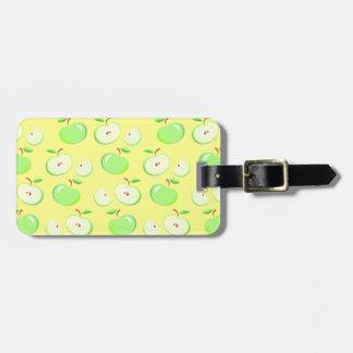 Grüne Äpfel auf Gelb, Reise-Gepäckanhänger Gepäckanhänger