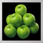 Grüne Äpfel Poster