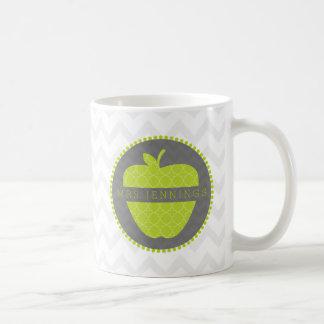 Grüne Apple-Lehrer Quatrefoil Tasse