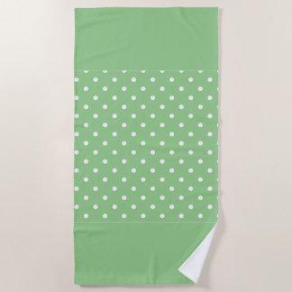 Grüne Apple-Tupfen Strandtuch