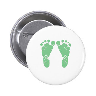Grüne Babyabdrücke Runder Button 5,7 Cm