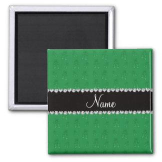 Grüne Ballettschuhe des individuellen Namens Magnete