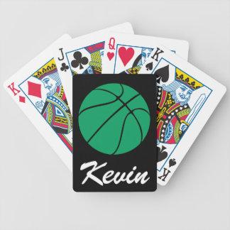 Grüne Basketball-Spielkarte-Plattform Bicycle Spielkarten