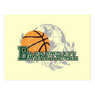 Grüne Basketball-T-Shirts und Geschenke Postkarten