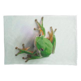 Grüne Baum-Frosch-Kissen-Hüllen Kissen Bezug