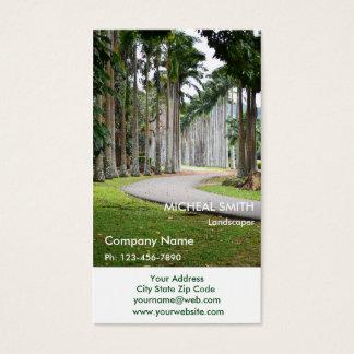 Grüne Baum-Garten-Rasen-Sorgfalt und Landschaft Visitenkarte
