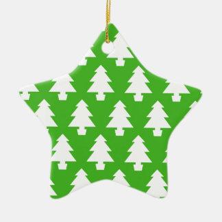 Grüne Bäume Keramik Ornament
