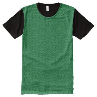 Grüne Beschaffenheits-amerikanischer T-Shirt Mit Komplett Bedruckbarer Vorderseite