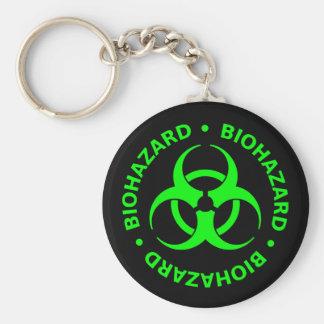 Grüne Biogefährdung-Warnung Schlüsselanhänger