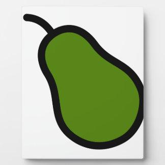 Grüne Birne Fotoplatte