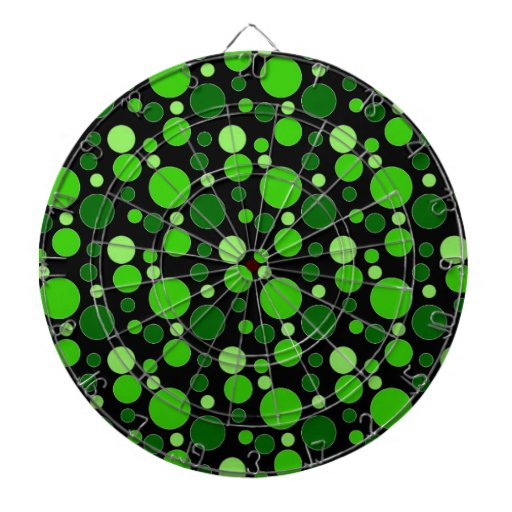 Grüne Blasen auf Schwarzem Dartscheibe