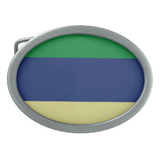 Grüne, Blau-und Zitronen-Streifen Ovale Gürtelschnalle