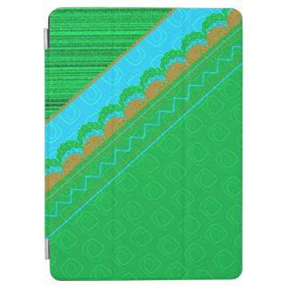 Grüne, blaue und orange Patchwork-iPad iPad Air Cover
