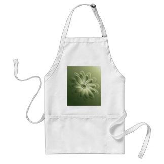 grüne Blumenblätter Schürze