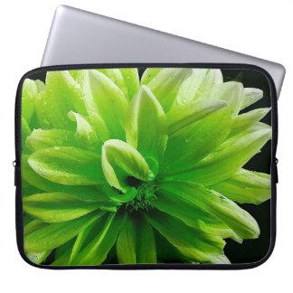 Grüne Blumenlaptophülse Laptopschutzhülle