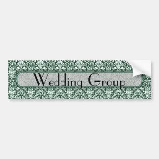 Grüne Blumenmuster-Hochzeit Autoaufkleber