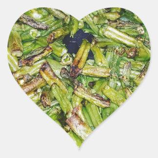 Grüne Bohnen… Herz-Aufkleber