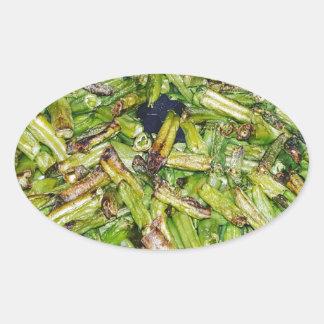 Grüne Bohnen… Ovaler Aufkleber