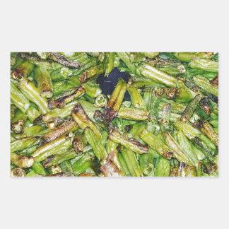 Grüne Bohnen… Rechteckiger Aufkleber