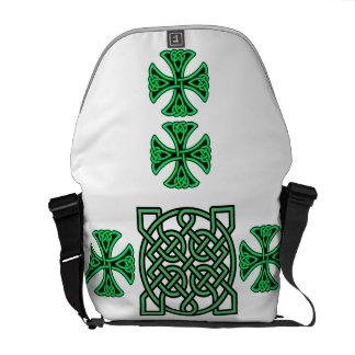Grüne Bote-Tasche des Knoten-Rickshaw-Medium-null Kuriertasche