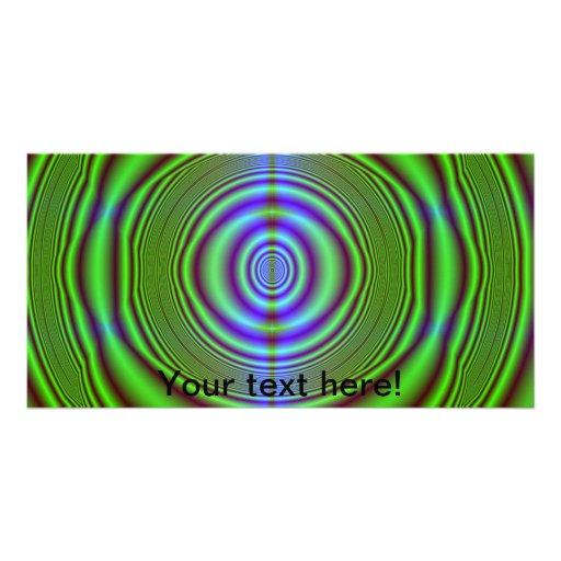 Grüne braune Fraktalkreise Bildkarte